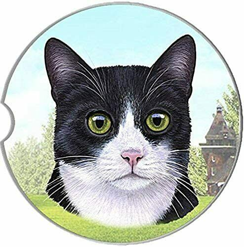 Black & White Cat Coaster