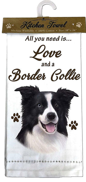 Border Collie Kitchen Towel
