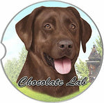 Chocolate Lab Car Coaster Coaster