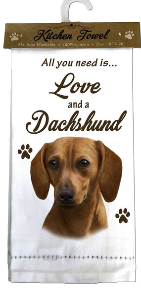 Dachshund (Tan) Kitchen Towel