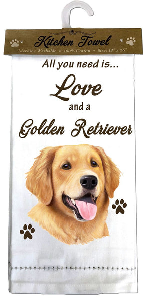 Golden Retriever Kitchen Towel
