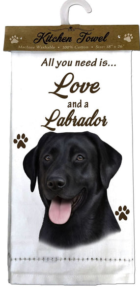 Labrador (Black) Kitchen Towel