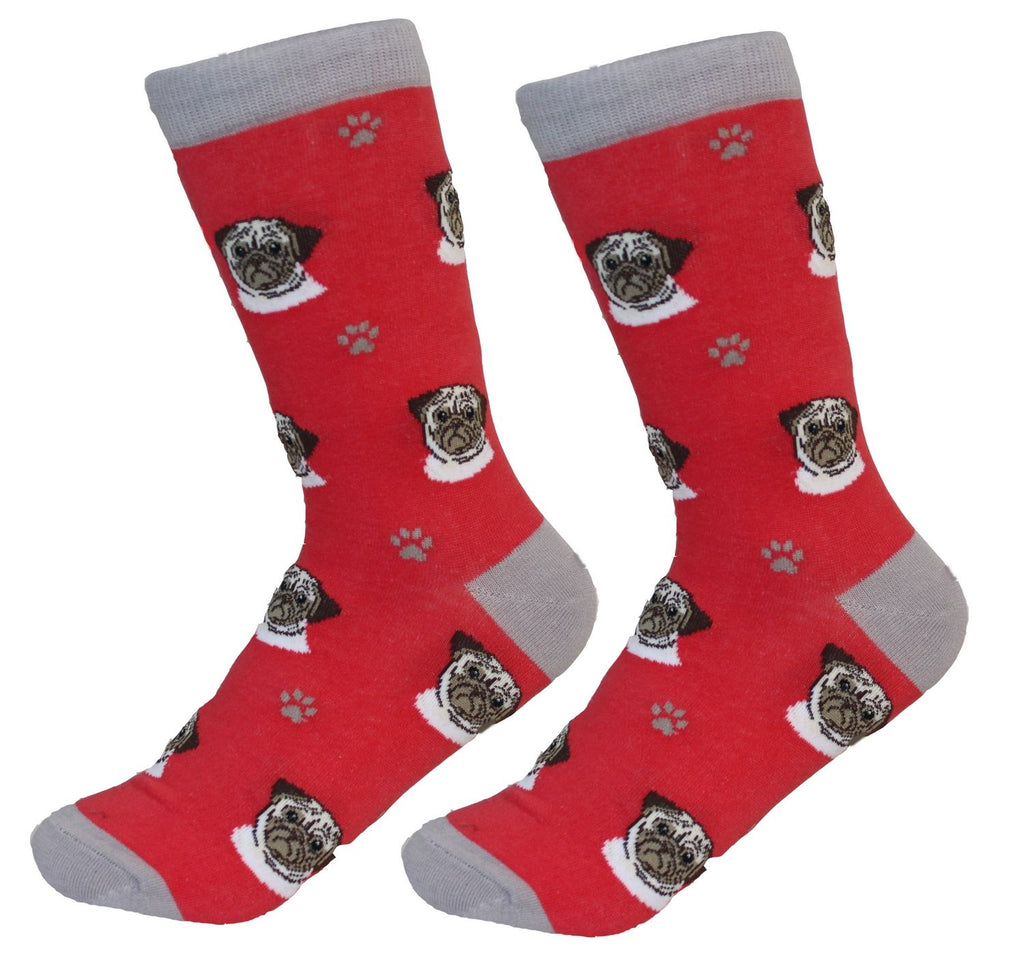 Pug (White) Socks - Unisex