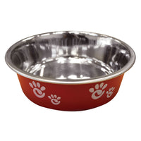 Red Food or Water bowl for Pets