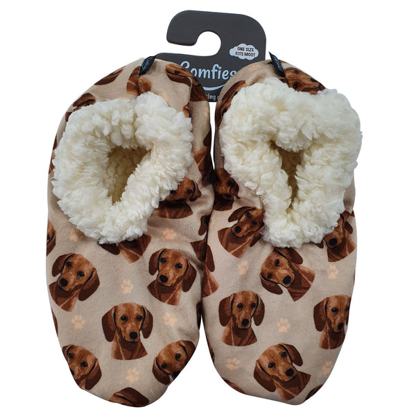 Dachshund (Red) Slippers - Comfies