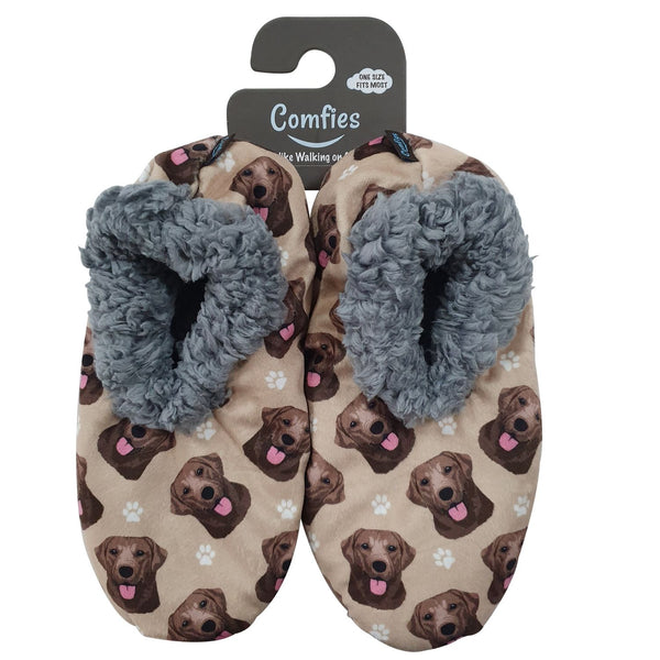 Labrador (Chocolate) Slippers - Comfies