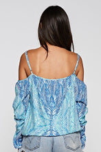 Print Cold Shoulder Top