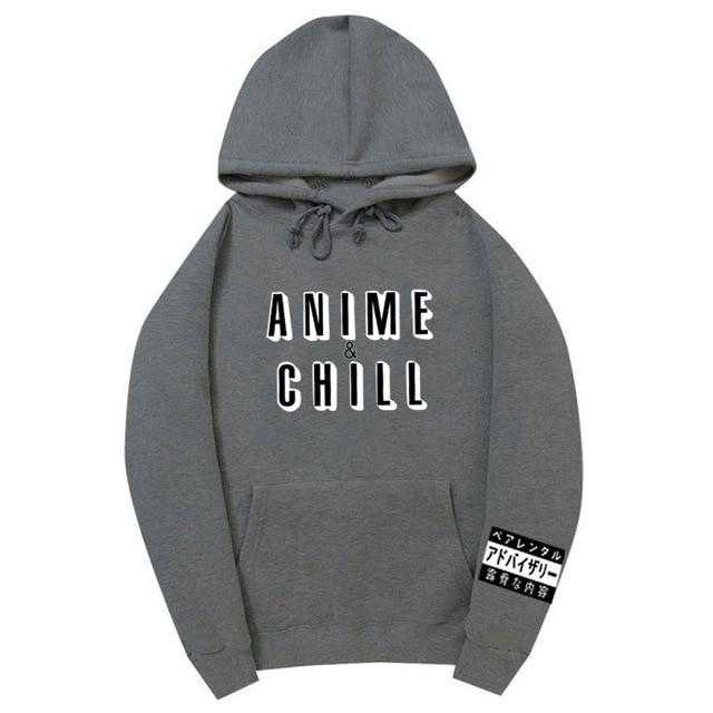 Anime & Chill | Parental Sleeve Hoodie (50% OFF) (Buy One Get One FREE!) (Add 2 To Cart For The Price Of 1!)