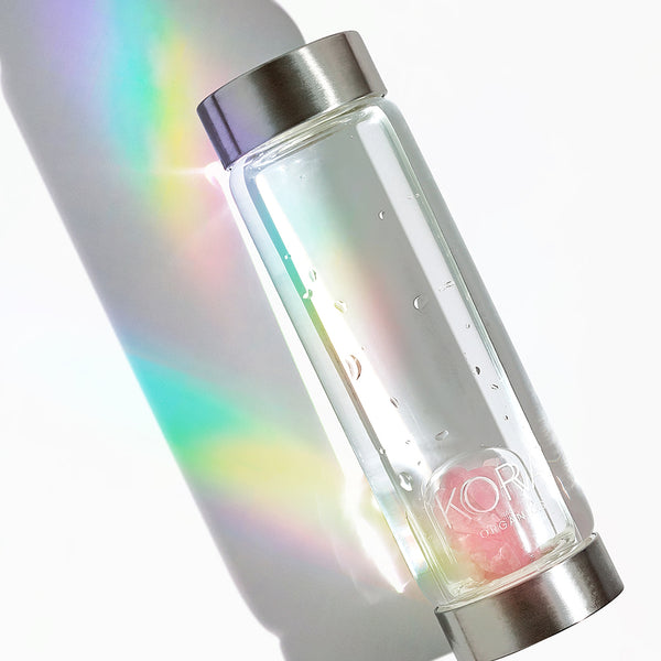 Miranda's philosophy of MIND BODY SKIN is celebrated in this Self-Love Glass Water Bottle that she collaborated with VitaJuwel on, as it brings water + rose quartz crystals in harmony to bring you the mostly loving and fresh tasting water to enjoy. Water is the source of life and hydrates & detoxifies you from the inside out