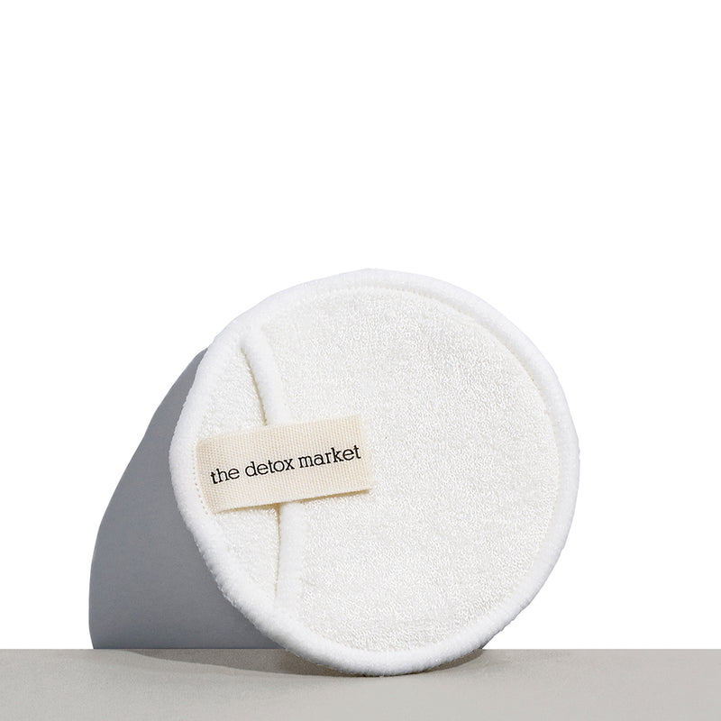 Reusable Facial Cleansing Round by The Detox Market that are machine washable.