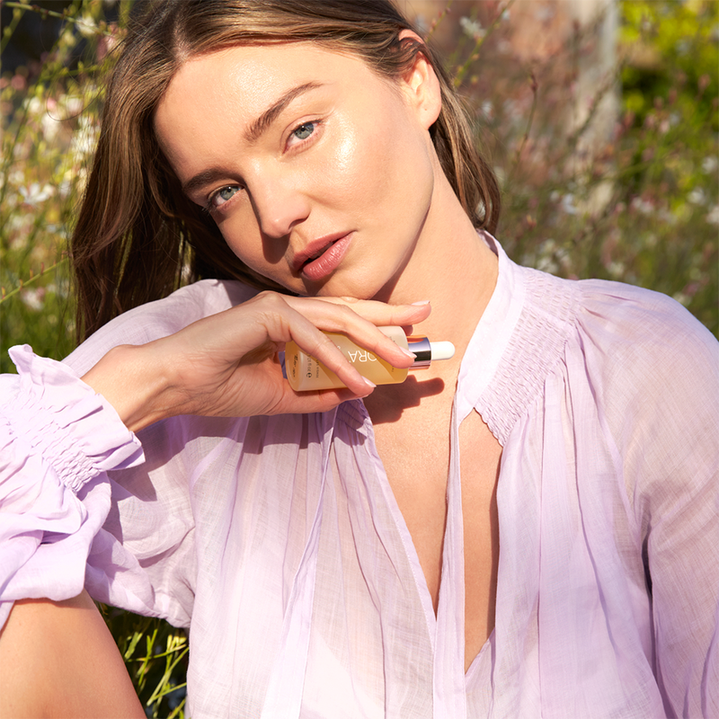 """This is my #1 skin savior and secret travel companion! I use it religiously morning and night. It's a super nourishing treatment oil that's great for all skin types, including sensitive skin. The powerful combination of Noni Extract and Rosehip, Pomegranate and Sea Buckthorn Oils keeps my skin radiant, hydrated and glowing 24/7!"" - Miranda Kerr, Founder & CEO of KORA Organics"
