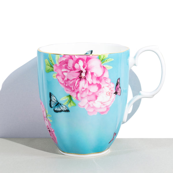 1 Royal Albert x Miranda Kerr Friendship Turquoise Vintage Mug | 400 mL / 13.5 fl oz