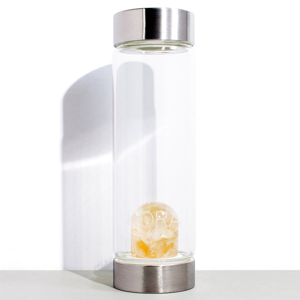 1 VitaJuwel x KORA Organics Citrine and Glass Water Bottle | 500 mL / 16.9 fl oz
