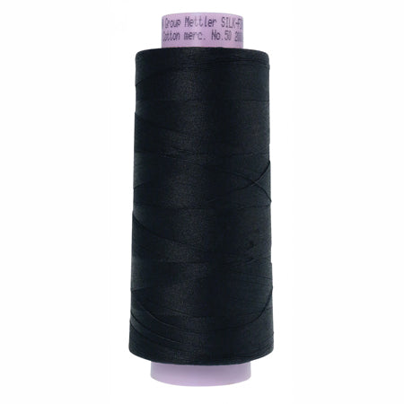 Mettler Silk Finish Cotton Thread 50 wt. 2000 yd. #4000 Black