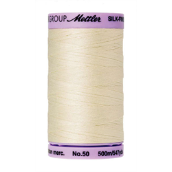 Mettler Silk Finish Cotton Thread 50 wt. 547yd. #3612 Antique White