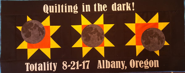 Commemorative 2017 Eclipse Table Runner