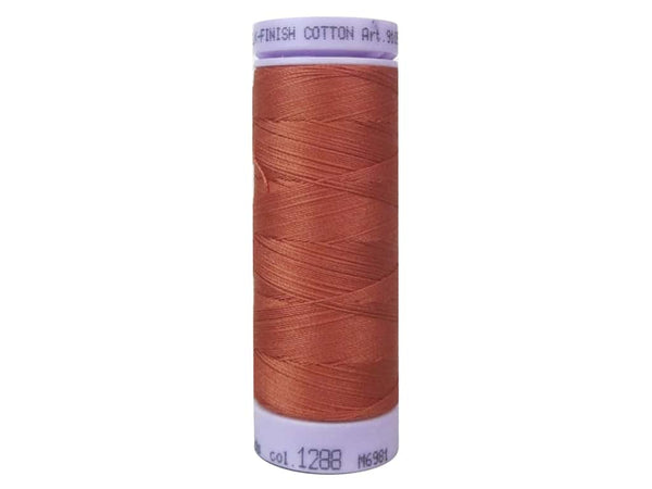 Mettler Silk Finish Cotton Thread 50 wt. 164 yd. #1288 Reddish Ocher