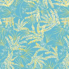 the painted garden fern pwdf136 aqua $9.00 / yard