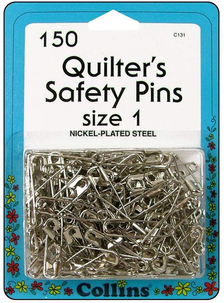 Collins Quilters Safety Pins 150 count