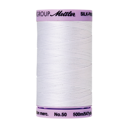 Mettler Silk Finish Cotton Thread 50 wt. 547yd. #2000 White