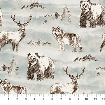 Misty Mountain - Flannel - Misty Earth Flannel - F22976-61 @ $9.00 / yard