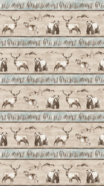 Misty Mountain - Flannel - Misty Earth Flannel - F22977-14 @ $9.00 / yard
