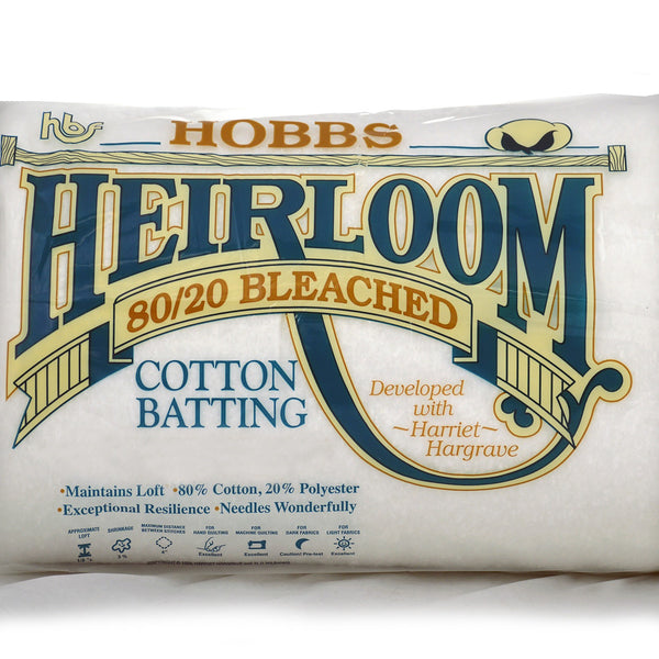 Hobbs 80/20 Bleached Batting @ $12.00 / Yard