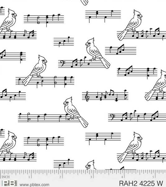 Ramblings Holiday ll Music/Birds RAH24225W $9.00 / yard