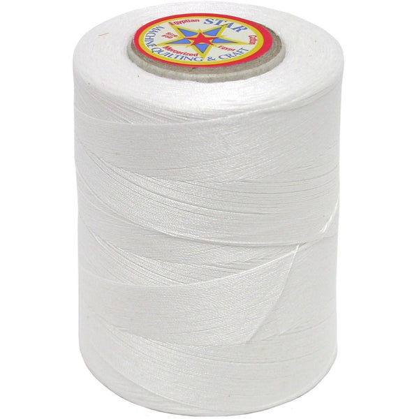Star Cotton Solid: 1200 yds White CACV37-W