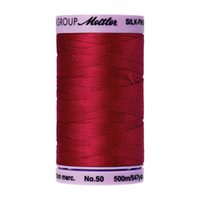 Mettler Silk Finish Cotton Thread 50 wt. 547yd. #0504 Country Red