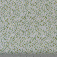 Flo's Little Flowers FLO6.2 - Daisies On Green $9.00 / yard