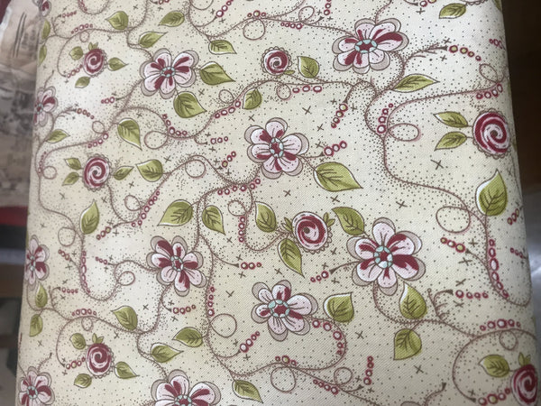 Blank Quilting Stof LA VIE est Belle 4503 299 Cream Small Floral  $9.00 / yard