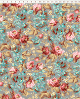 Around The Roses Y2718-62 @ $9.00 / yard