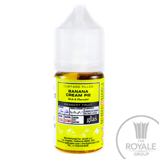 Glas BASIX Salt E-Juice - Banana Cream Pie