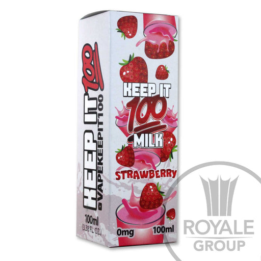 Keep It 100 E-Juice - Milk Strawberry