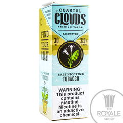 Coastal Clouds Salt E-Juice - Tobacco
