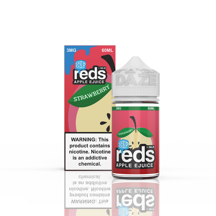 A new flavor from 7Daze, the red's Iced Apple Strawberry.
