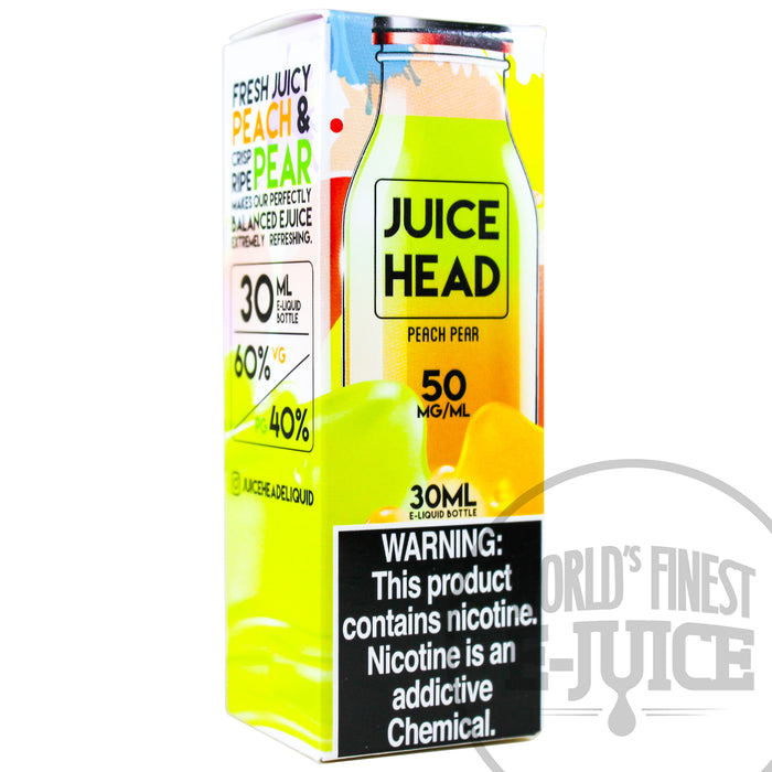 Juice Head Salt E-Juice - Peach Pear