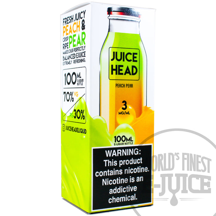 Juice Head E-Juice - Peach Pear