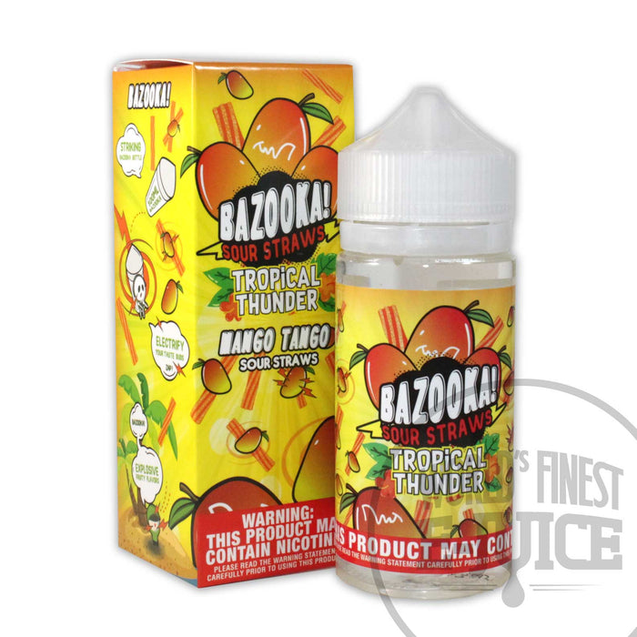Bazooka Tropical Thunder E-Juice - Mango Tango Sour Straws