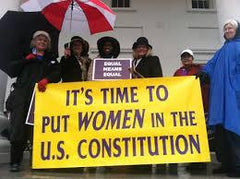 Women Activists Demonstrating for Equal Rights Amendment to Constitution.