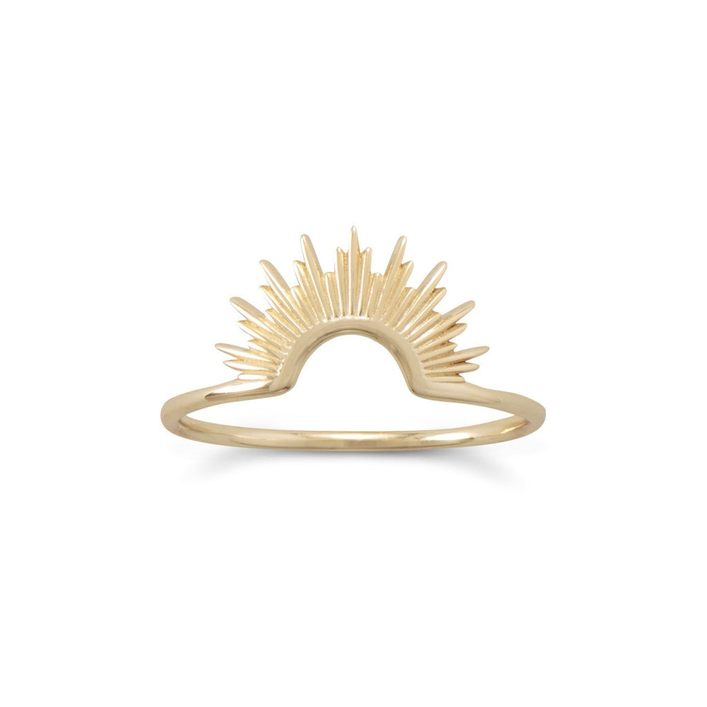 14K Gold Sunburst Ring