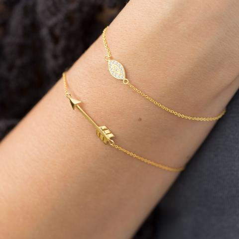 Aim High Gold Arrow Bracelet