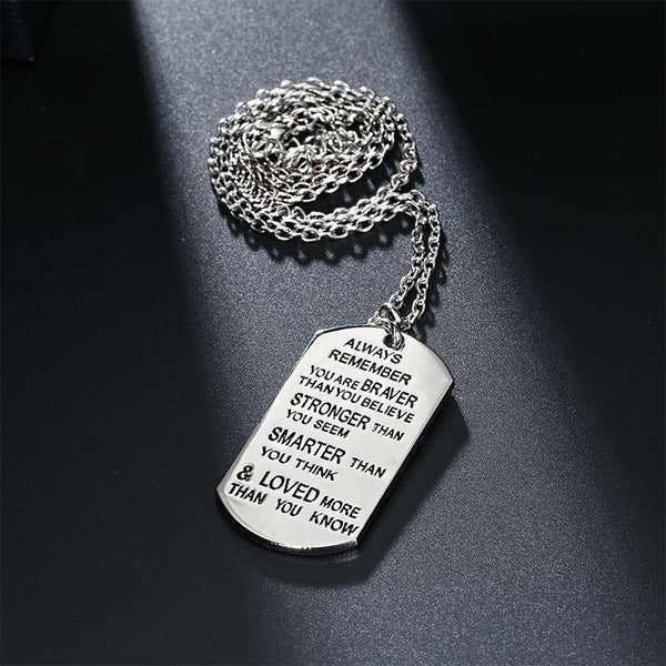 Always Remember You Are Braver Necklace - FREE Shipping