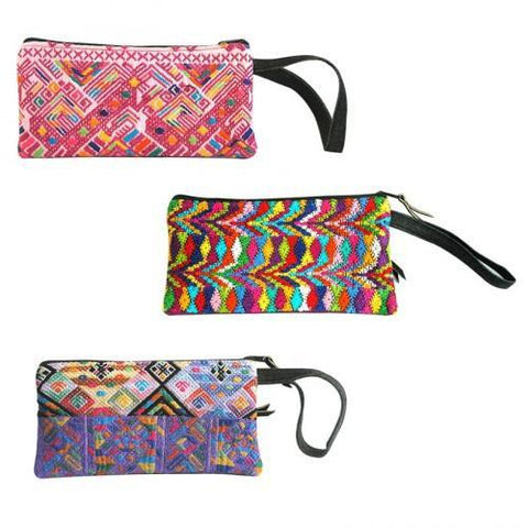 PEBBLE + ROSE Collection of 3 colorful wristlet bags made by artisan women that give back to charity
