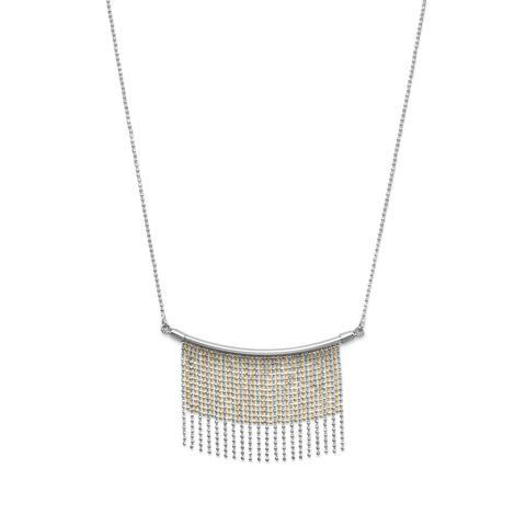 Bar And Bead Two Tone Necklace