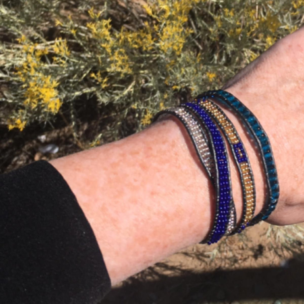 PEBBLE + ROSE Jewelry - Masai Wrap Bracelet on model's wrist