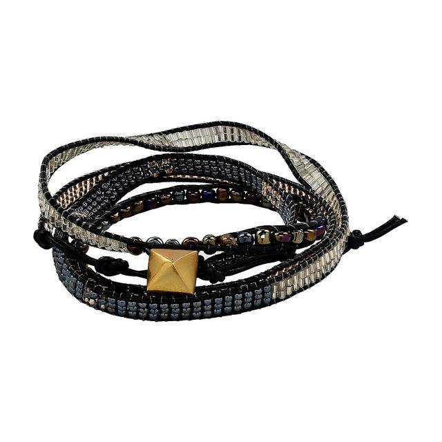 PEBBLE + ROSE Artisan Jewelry - Onyx Masai Wrap Bracelet