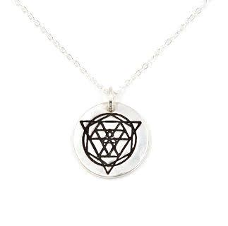 PEBBLE + ROSE US Artisan Jewelry - Sacred Geometry Disk Necklace by Annie Diehl