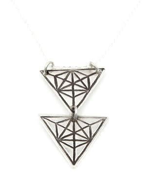 PEBBLE + ROSE artisan Jewelry - Sacred Geometry Stacked Necklace by Annie Diehl